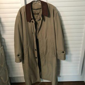 Brooks Brothers tan removable wool lining coat, L